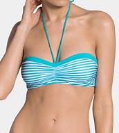 SLOGGI SWIM TURQUOISE STRIPES Bikini Oberteil mit Bügel
