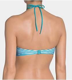 SLOGGI SWIM TURQUOISE STRIPES Bikini top padded