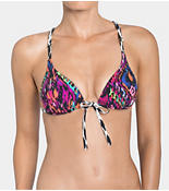 HOT FIESTA Push-up bikini with front closure