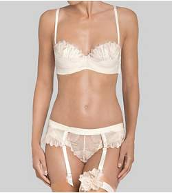 SHEER ROSE ESSENCE Suspender belt