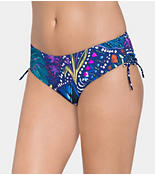 PAINTED LEAVES Bikini midi bottom