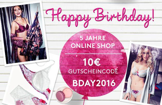 Online Shop Geburtstag Gutschein