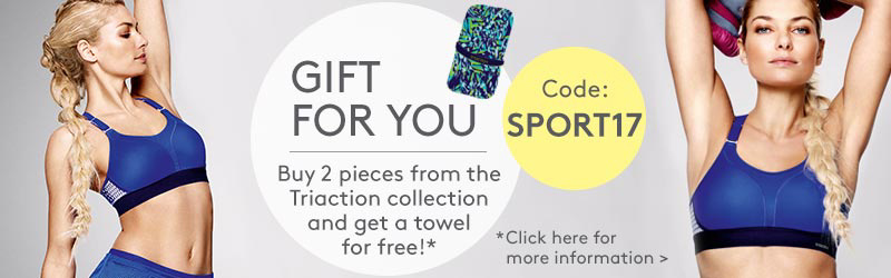 Gift for you: Buy 2 pieces from the triaction collection and get a towel for free