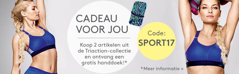 Cadeau voor jou: Koop 2 kledingstukken uit de Triaction-collectie en ontvang een gratis handdoek!
