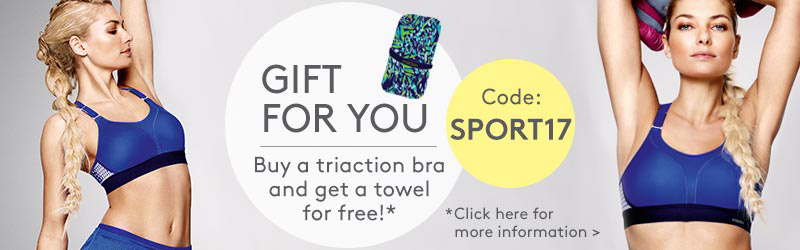 Gift for you: Buy a triaction bra and get a towel for free!