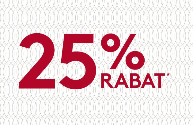25% rabat