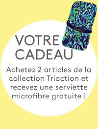 Votre cadeau: Achetez 2 articles de la collection Triaction et recevez une serviette microfibre gratuite!